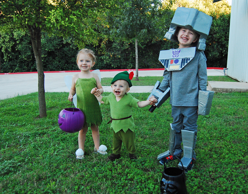 Tinker Bell Peter Pan and Megatron DIY Costumes from The Nesting Spot  sc 1 st  The Nesting Spot & toddler peter pan costume Archives -