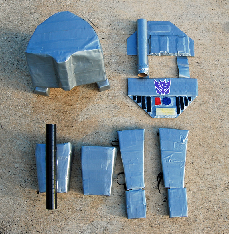 DIY Megatron Costume from The Nesting Spot