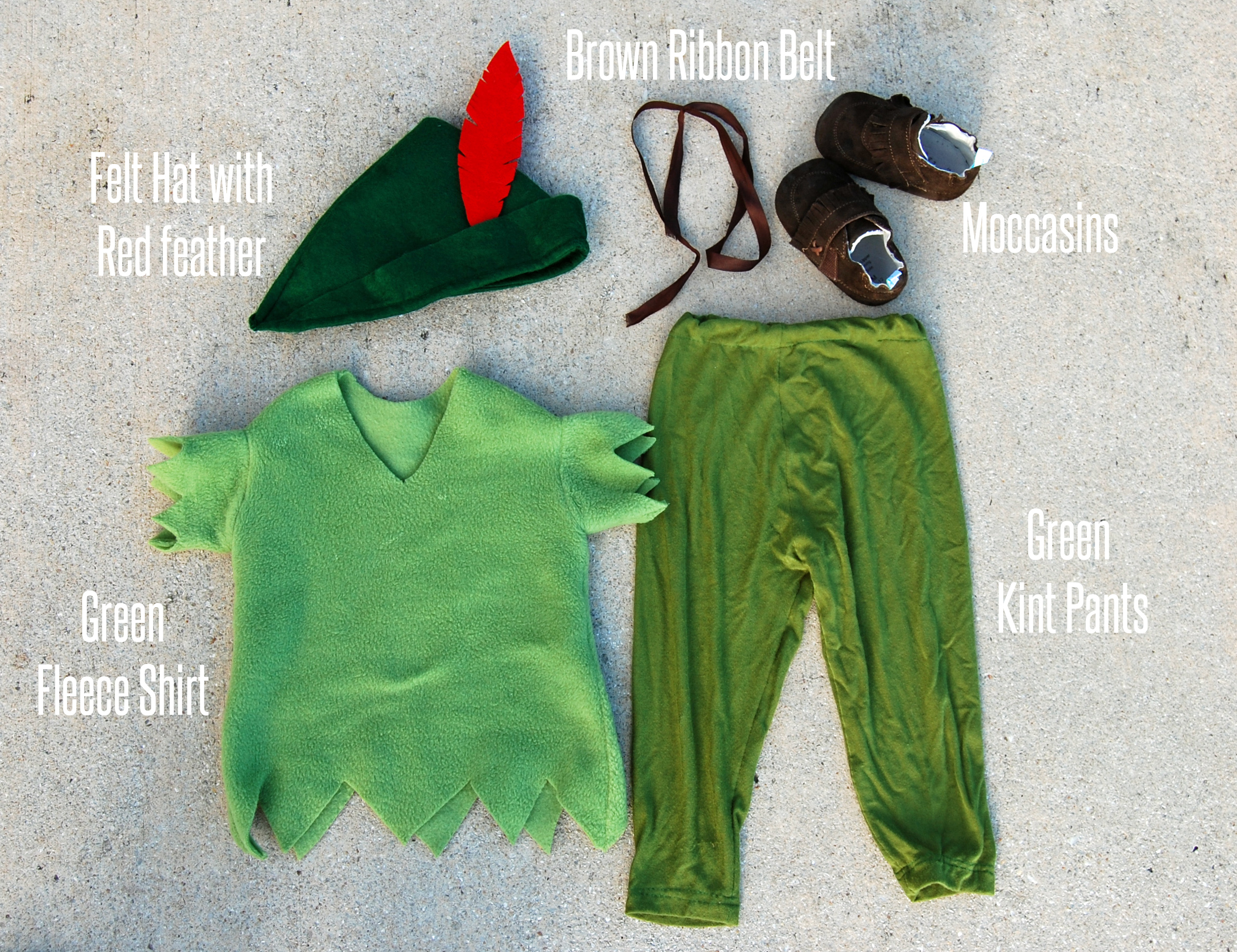 DIY Peter Pan Costume From The Nesting Spot