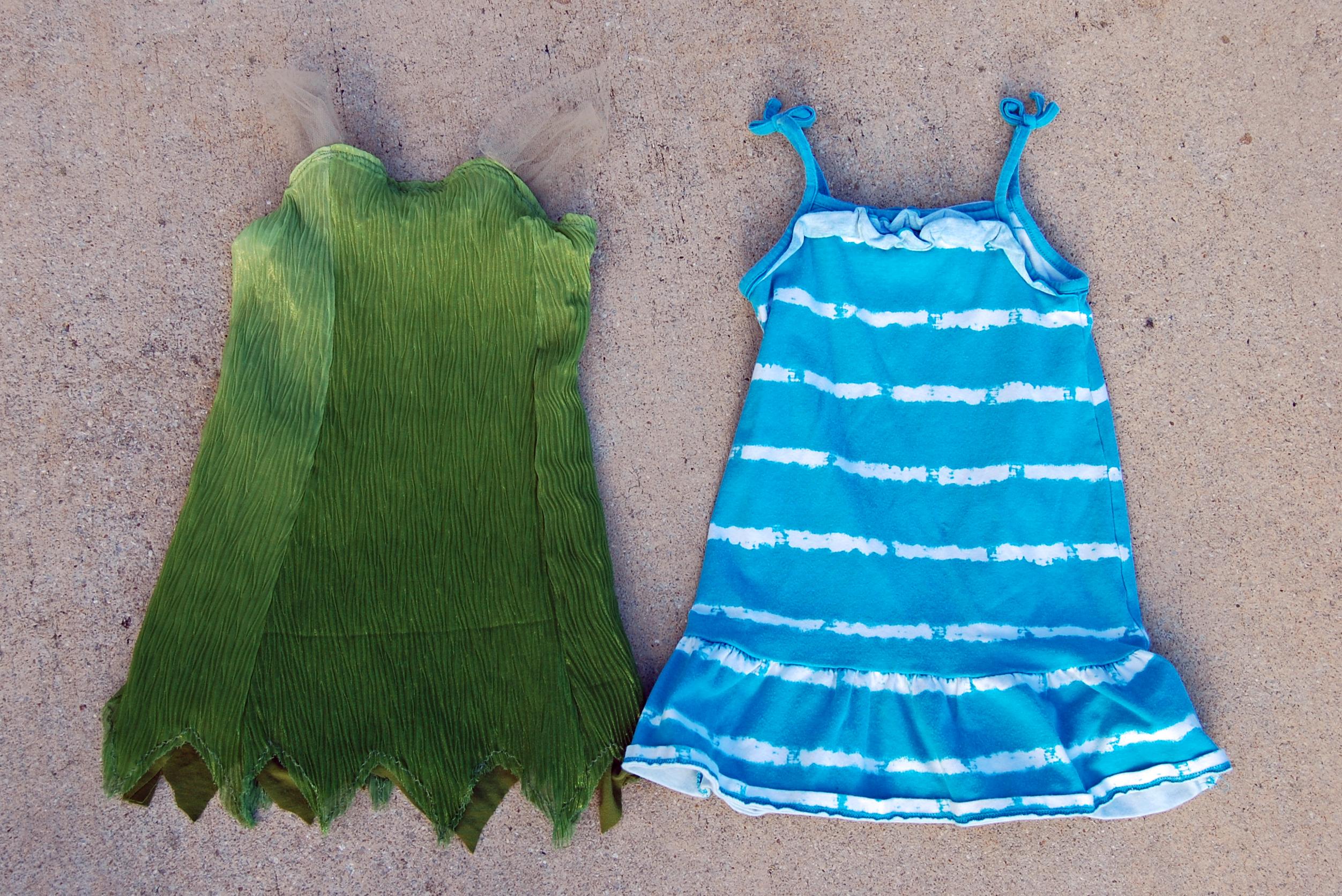 tinkerbell dress sized from sun dress & DIY Tinkerbell Costume -
