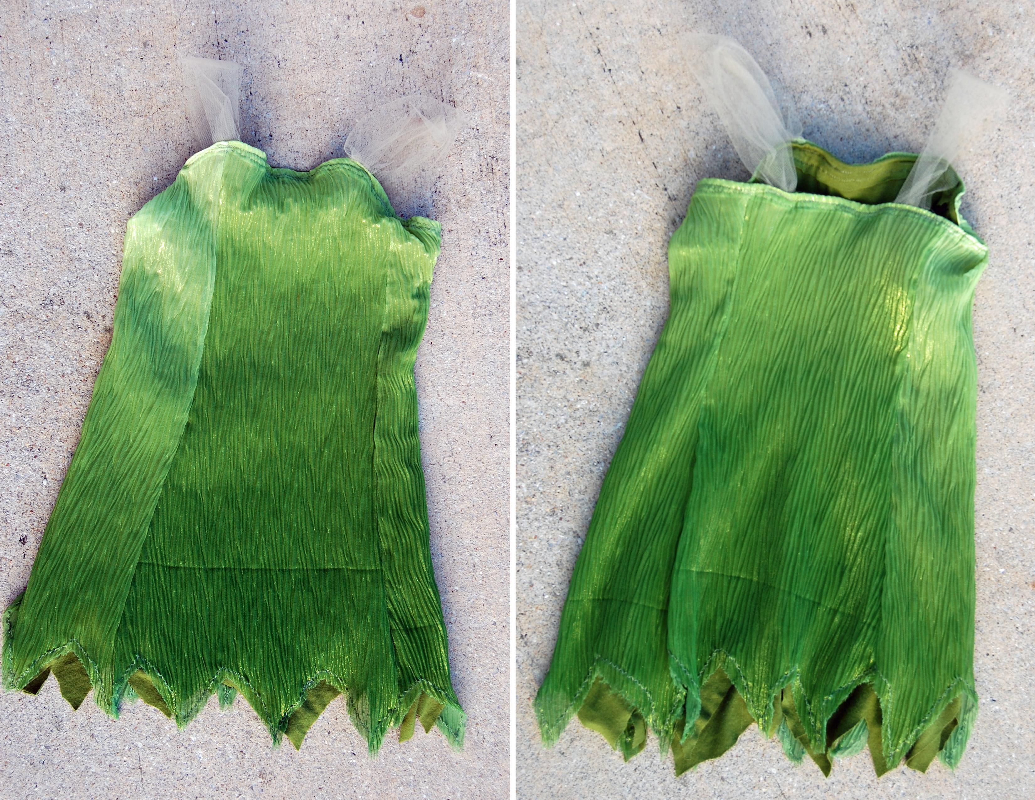diy tinkerbell dress from The Nesting Spot & DIY Tinkerbell Costume -