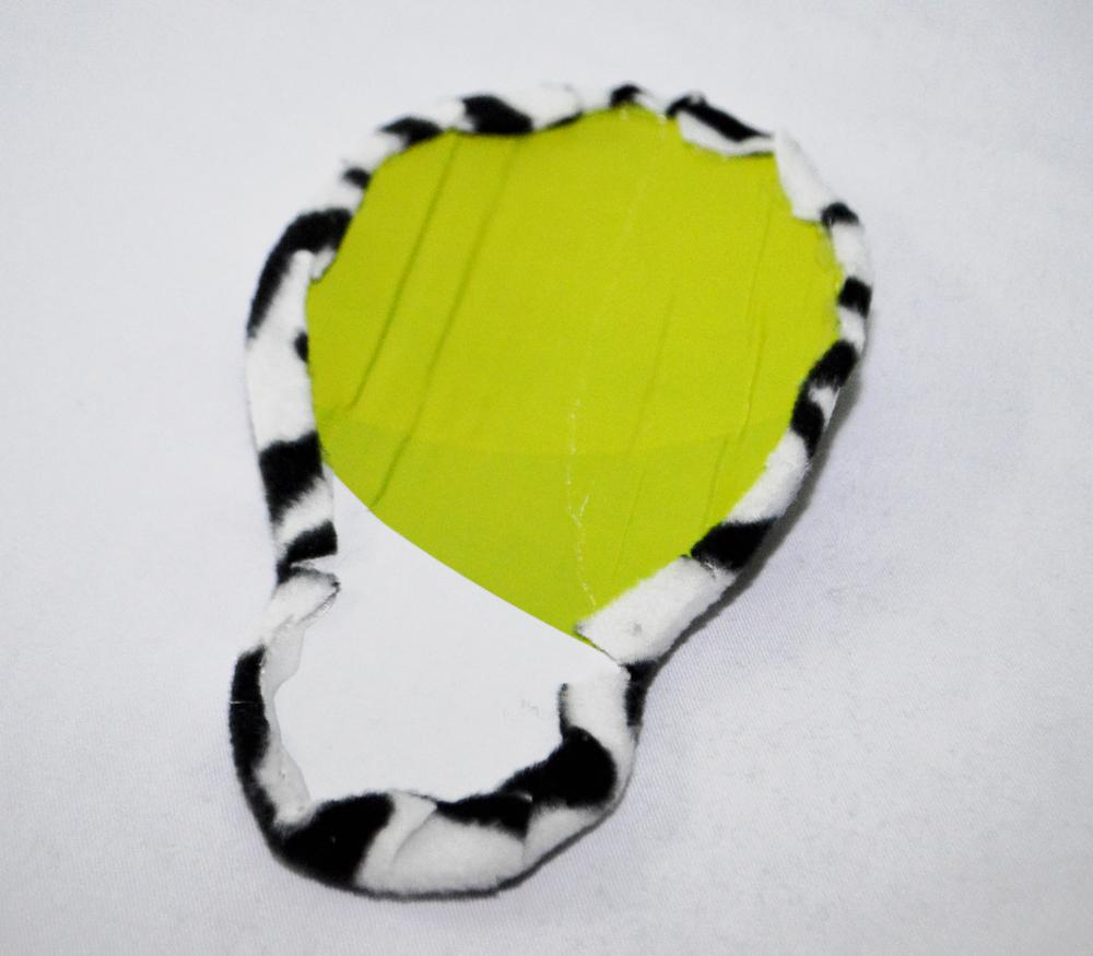 zebra face step 2