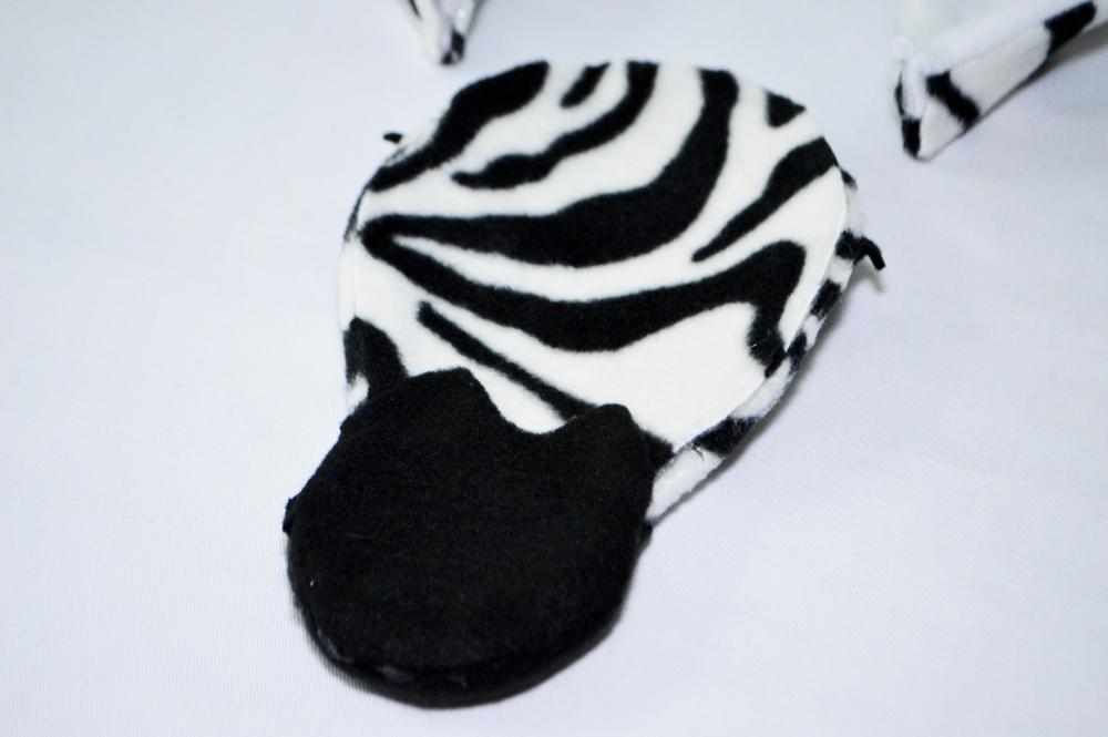 finished back of zebra face