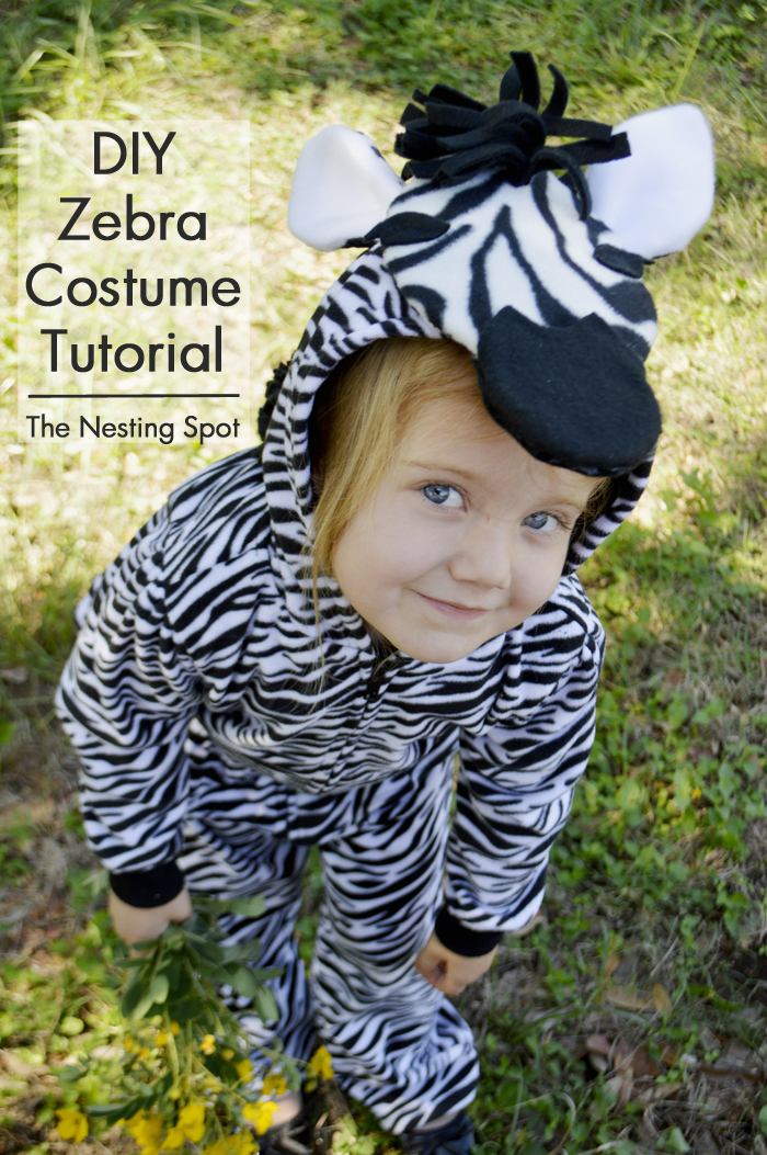 diy zebra costume tutorial