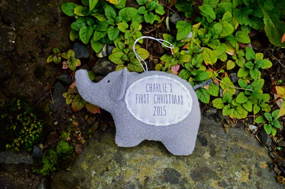 Personalised Elephant Ornament from The Nesting Spot