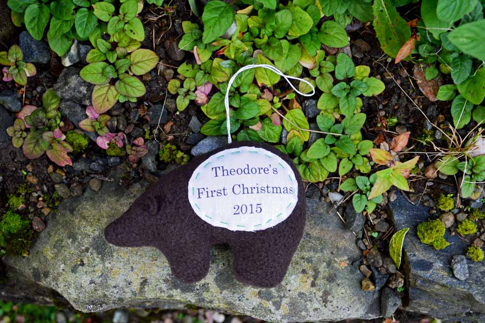 Personalised Bear Ornament 2015 from The Nesting Spot