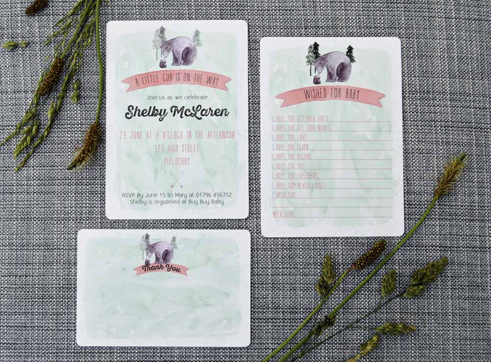 Bear Printable Invitation Set from The Nesting Spot