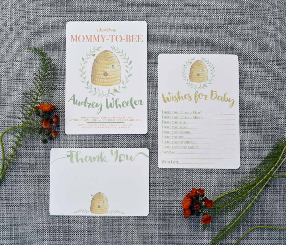 Bee Invitation Set from The Nesting Spot