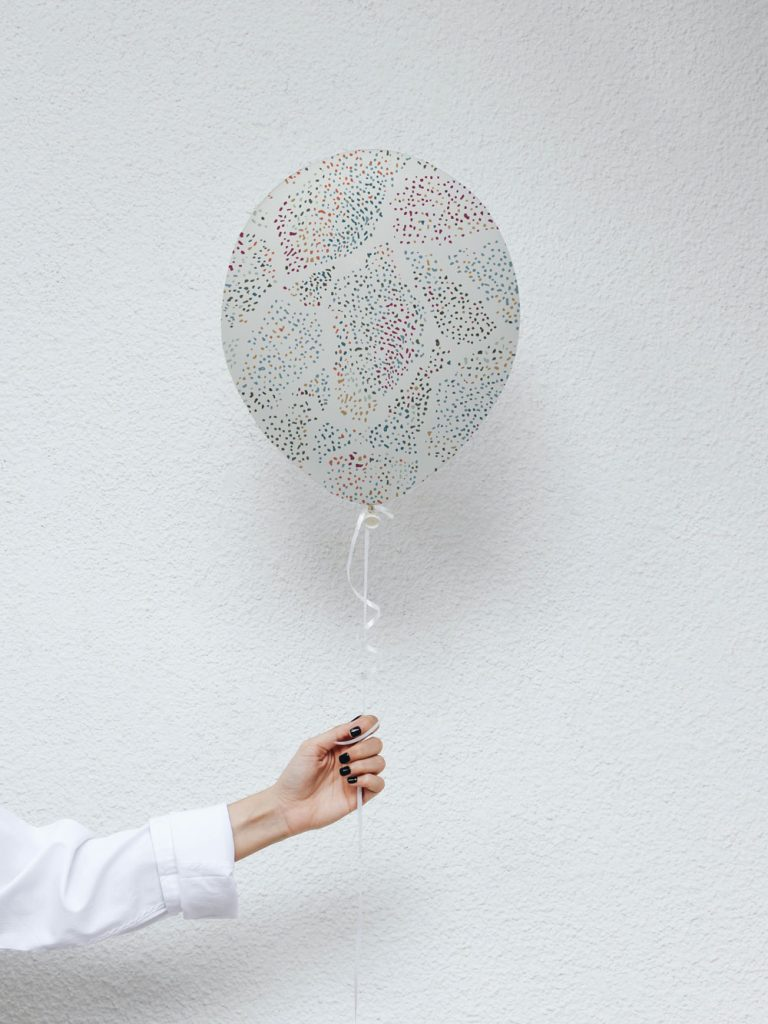 Abstract dot surface pattern design on balloon