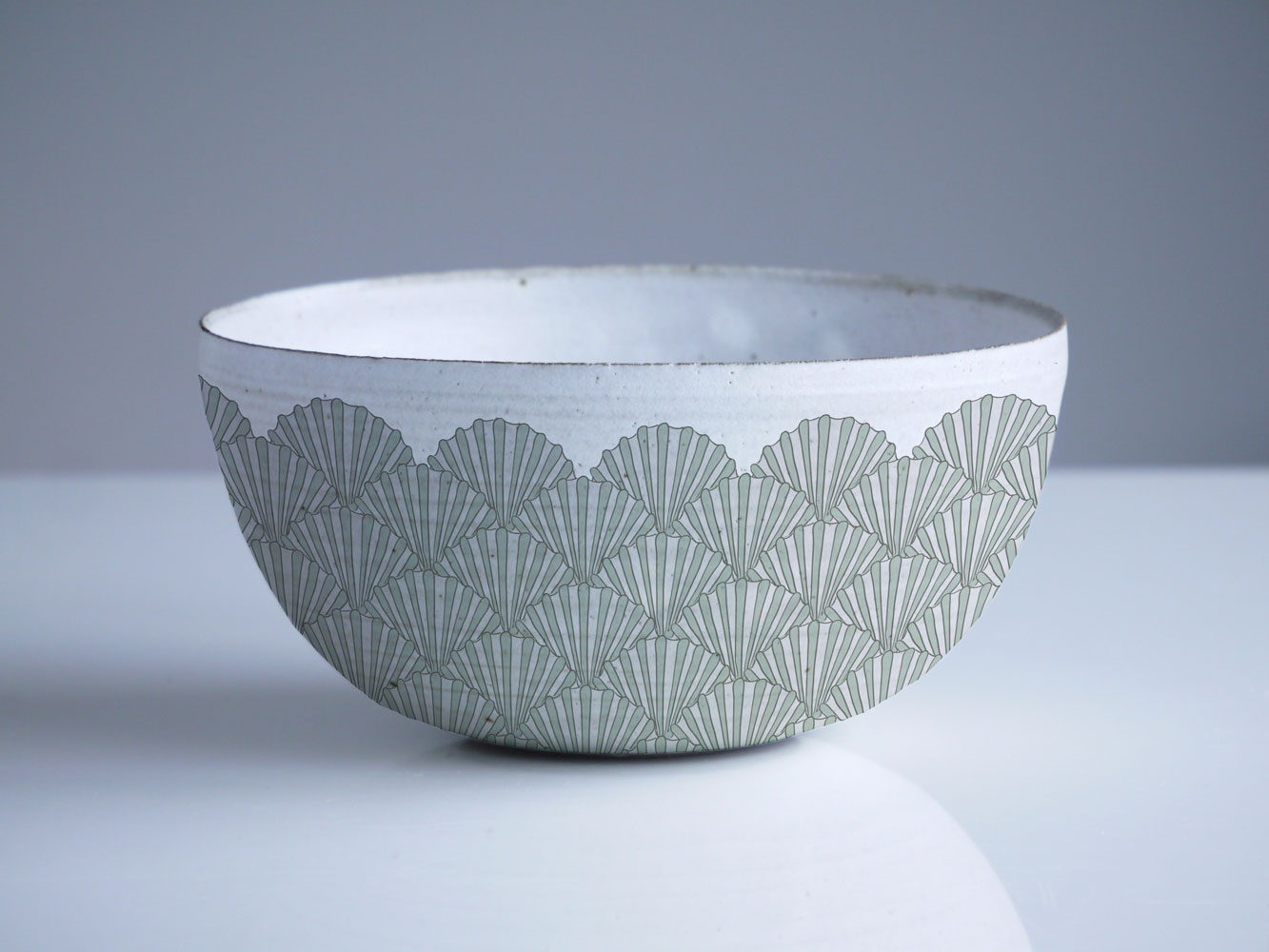 Shell Surface Pattern Design on Bowl