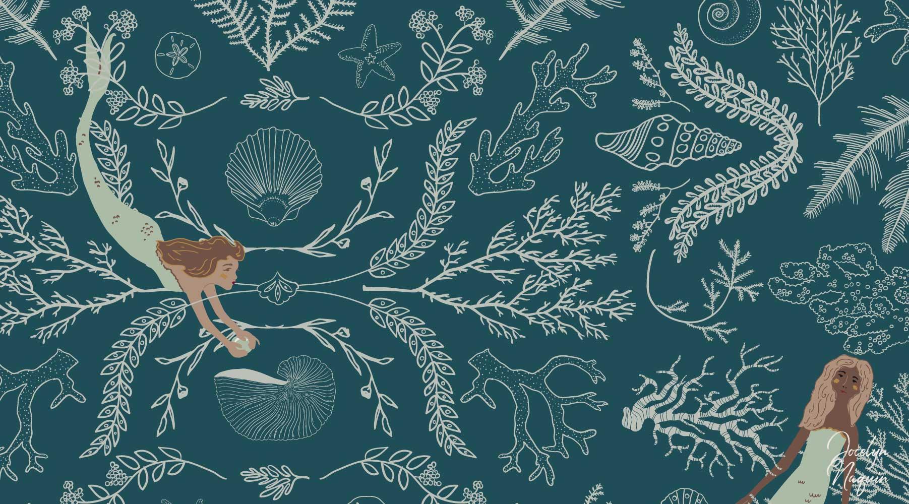 Mermaid Surface Pattern Design