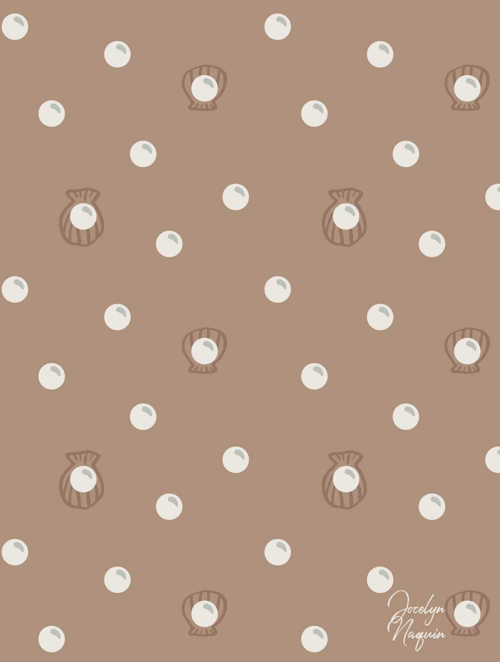 Pearl and Shells Surface Pattern Design